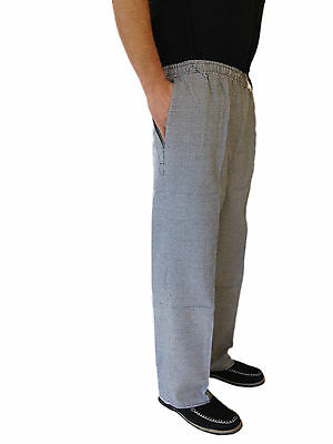 Chef Uniform Hospitality Pants Black And White Check With Draw String  X2