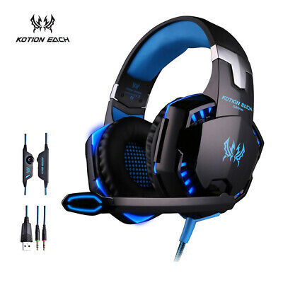 EACH G2000 Stereo Bass PC Games Gaming Headphone Headset with Mic LED Light G1XH