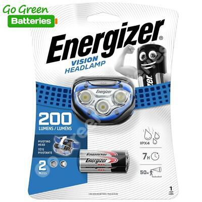 Energizer Vision LED Headlight 100 Lumen Head Torch Lamp 3 AAA batteries camping