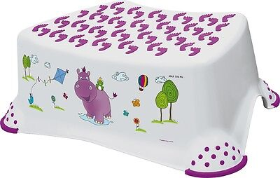 OKT Kids Happy Friends Hippo Child/Toddler Toilet Training Step Stool (White)