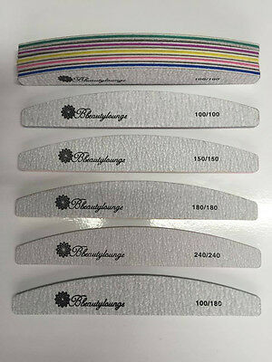 Bbeautylounge Nail Files Multi Listing 240/180/150/100 Grit Acrylic/gel Nails