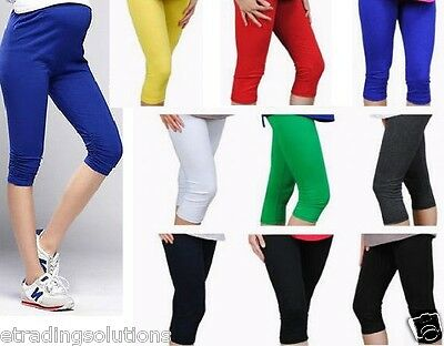 Cropped Very Comfortable Maternity Cotton Leggings 3/4 Length PREGNANCY *MTR3/4