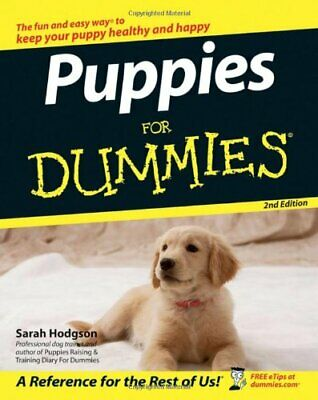 Puppies For Dummies, Hodgson, Sarah Paperback Book The Cheap Fast Free Post