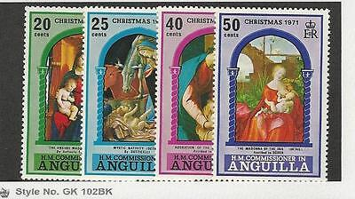 Anguilla, British, Postage Stamp, #132-135 Mint NH, 1971 Christmas