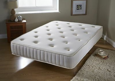 Luxury Tufted Bonnell Spring and Memory Foam Mattress - Orthopaedic Comfort