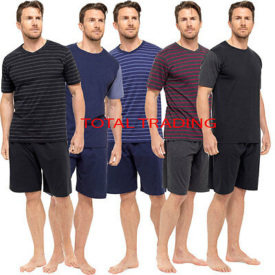 Mens Pyjamas Set Short Sleeve Top Pants Summer Pjs SUMMER lot Loungewear HT331