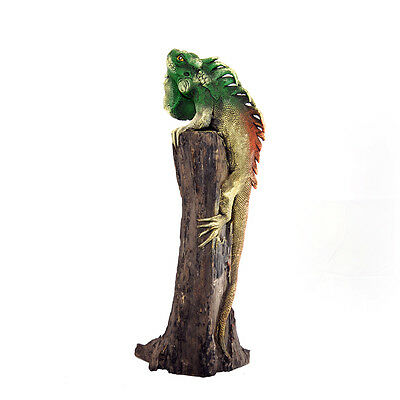 "12"" Iguana on Wood - Brown/Green (01)"