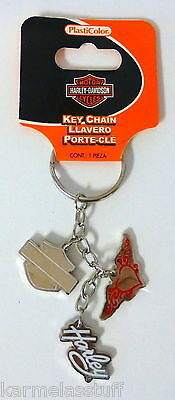 Harley-Davidson Logo Charm Metal Key Chain NEW