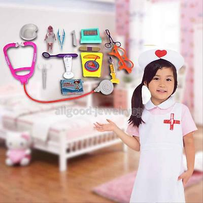 15Pcs Kids Doctor Nurse Medical Role Play Set Case Baby Kit Educational Baby Toy