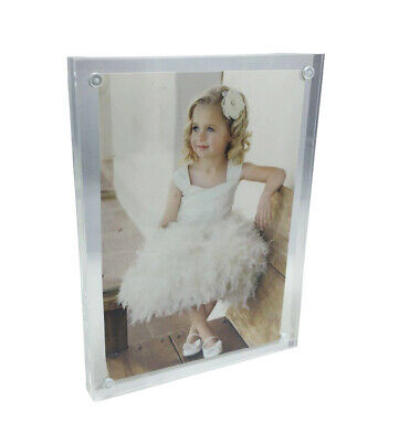 Deluxe Thick Plexiglass Acrylic Picture Frame Magnetic Closure 4.25*5.75""