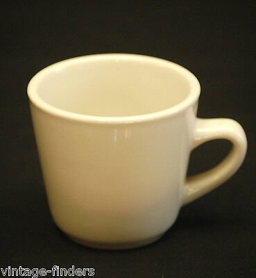 Ultima China Restaurant Ware White Diner Coffee Shop Heavy Mug Cup Vintage