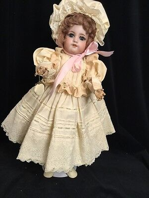 antique german bisque 570 by S&h on compo body w blue sleep eyes