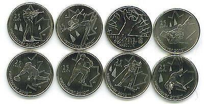 Canada: 8-Piece Uncirculated 2010 Vancouver Olympic Quarter Set, 2007-9