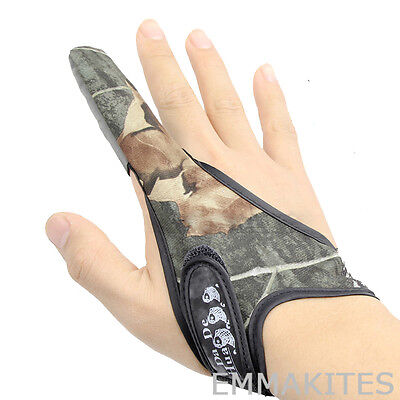 NEW Camouflage Fishing Fish Kites Single Finger Stall Protector Gloves Non-Slip