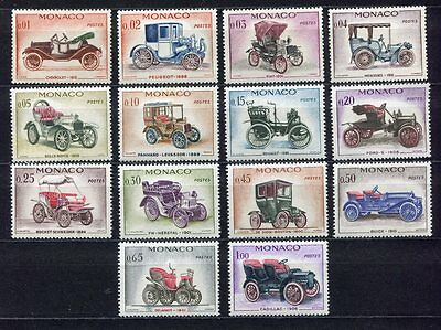 s3832) MONACO MNH** 1961 Old Cars 14v