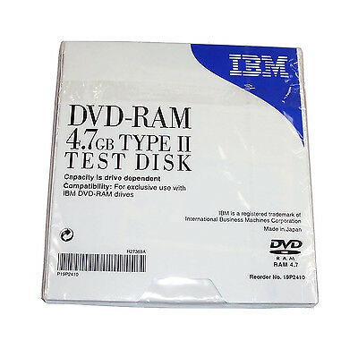 New IBM 19P2410 DVD-RAM 4.7GB Type II Test Disk
