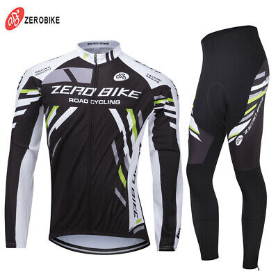 Windproof Winter Thermal Fleece Men Long Sleeve Cycling Jersey&Pants Tights Sets