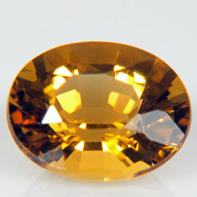 2.63 ct Honey Citrine Oval cut 10.1x8.1mm IF Natural loose yellow gemstone