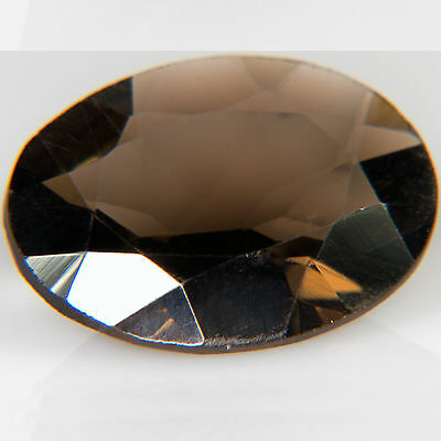 6.55 ct Smoky Quartz Oval cut 16.0x11.8mm VS Natural loose brown gemstone