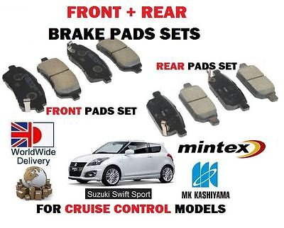For Suzuki Swift 1.6 Sport M16A  2011-  New Front + Rear Disc Brake Pads Sets