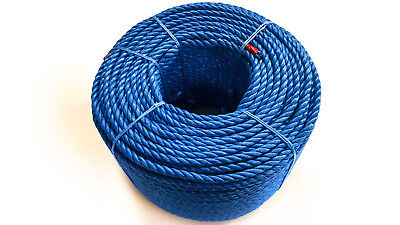 Blue Polypropylene Rope Coils, 8mm Polyrope, Sailing, Agriculture, Camping,