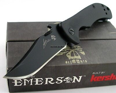 Kershaw Emerson CQC-2K Tactical Folding Knife Clip Point G10 Handle 6024BLK