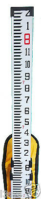 8 Foot Aluminum Grade Rod with Inch Scale, Case, Plumb Level & Priority Mail