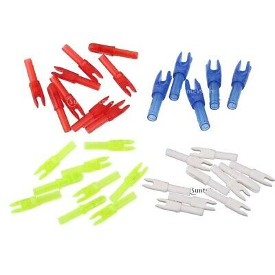 10PCs ARCHERY HUNTING PLASTIC ARROW SHAFT TAIL G Size NOCKS - CHOICE of COLORS