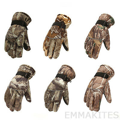 Super Warm 1 Pair Camouflage Full Finger Gloves Winter Sports Fishing Bike Race