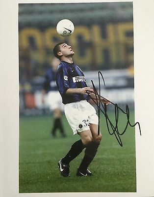 Christian Vieri signed 10x8 Inter Milan photo UACC Registered dealer