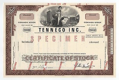 SPECIMEN - Tenneco Inc. Stock Certificate