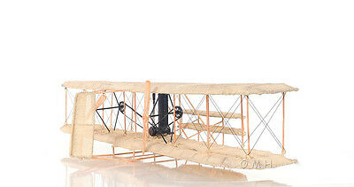"""Wright Brothers 1903 Flyer 1 Airplane Metal & Canvas Model 33"""" Aeroplane Decor"""