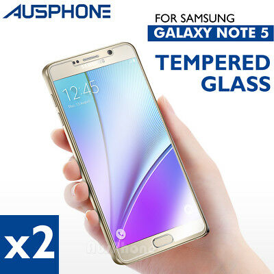 2x GENUINE NUGLAS Samsung Galaxy Note 5 Premium Tempered Glass Screen Protector