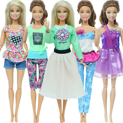 3Pcs Fashion Mini Dress Wedding Party Skirt Summer Clothes For Barbie Doll Gift