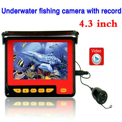 "SY 4.3"" HD Underwater Video Fishing Camera 20M Waterproof LCD Monitor System DVR"