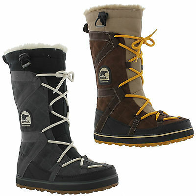 Sorel Glacy Explorer Womens Waterproof Lace Up Snow Ski Boots Size UK 4-8