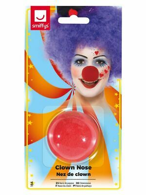 Circus Clown Red Nose Mens Novelty Sponge Fancy Dress Accessory