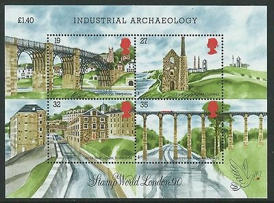 MS1444 GB 1989 - Industrial Archaeology Miniature Sheet - UNMOUNTED MINT
