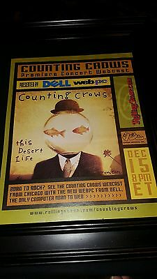 Counting Crows Rare This Desert Life Dell Web Concert Promo Ad Framed!