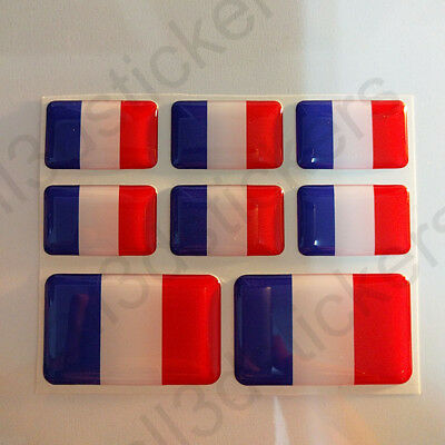 Sticker France Resin Domed Stickers France Flag 3D Vinyl Adhesive Decal Car