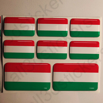 Sticker Hungary Resin Domed Stickers Hungary Flag 3D Vinyl Adhesive Decal Car