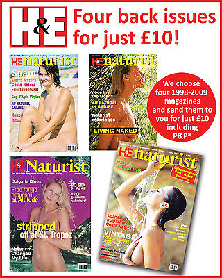 H&E naturist magazine health efficiency four back issues special offer