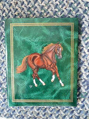 Galloping Chestnut Horse Hand Painted On Photo Album