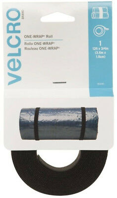 Velcro Brand One-Wrap Black Straps 12ft x 3/4in Bundling & Securing Cut To Fit