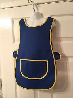 Wholesale Job Lot 10 Brand New Blue Kids Tabards Aprons Yellow Clothes Craft