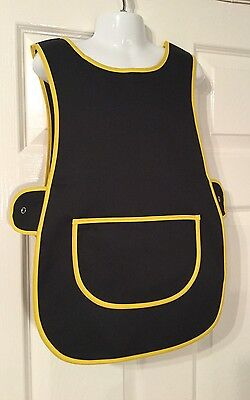 Wholesale Job Lot 10 Brand New Black Kids Tabards Aprons Yellow Clothes Craft