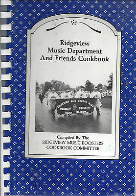 *Colfax Il 1995 Vintage Ridgeview High School Cook Book *Music Dept & Boosters