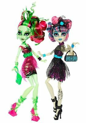 Monster High Rochelle Goyle & Venus McFlytrap 2 Dolls Pack - New