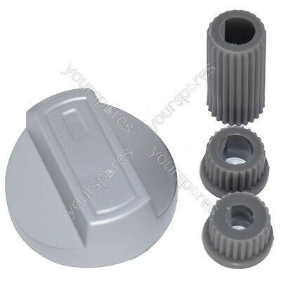 Flavel Universal Cooker/Oven/Grill Control Knob And Adaptors Silver