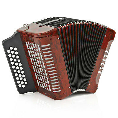 New Diatonic Button Accordion by Gear4music, 12 Bass